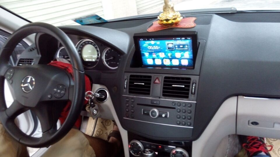 pen-hui 8'' Android 4.4 Autoradio gps navigation support gps/3g/wifi mirror-link for c200 w204 2004-2010 built in map