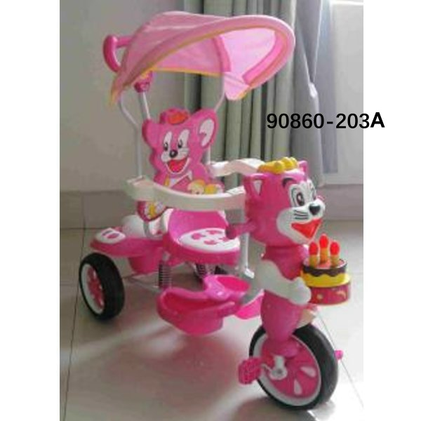 2 In 1 Stroller Good Price Wholesale Softtextile Baby Tricycle 90860-203A
