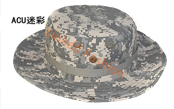 Boonie Hat Camouflage Cap boonie hat Outdoor Hunting Fishing Boonie Bucket Camouflage Hat