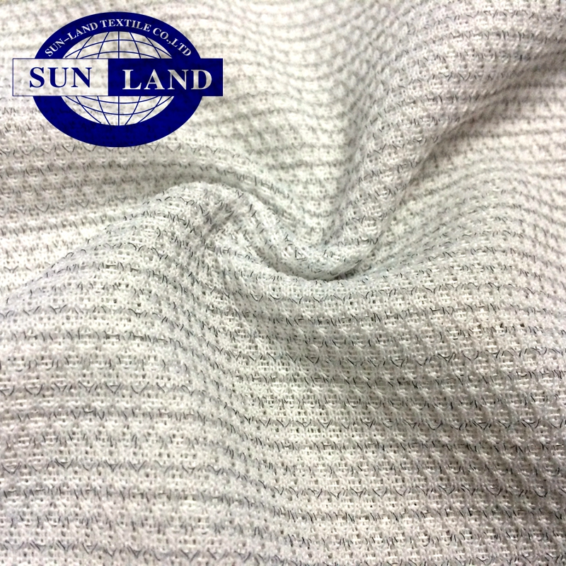 weft knit jersey clothing worker suit spring summer daily wear t-shirt cotton anti static stripe fabric
