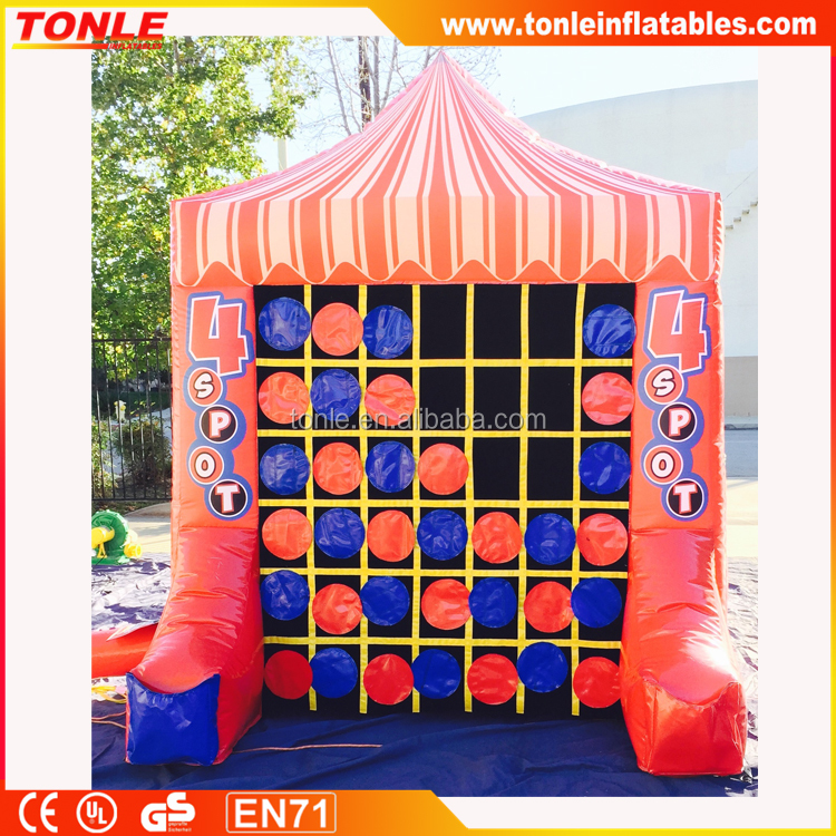 giant 4 spot and inflatable tic tac toe combo game