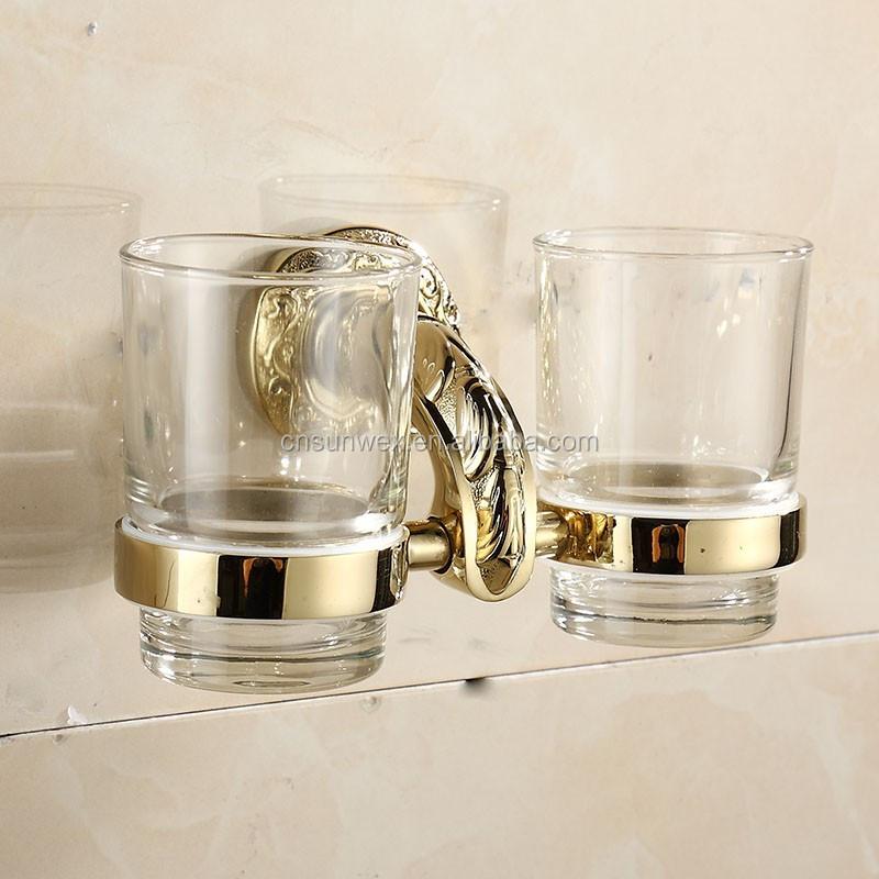 황금 욕실 액세서리 더블 텀블러 홀더 트윈 텀블러 홀더 G7868 ...