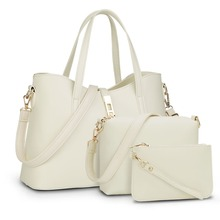 C74361A Fashion lady handbag women bag sets high quality PU handbags 3 pcs in 1 set