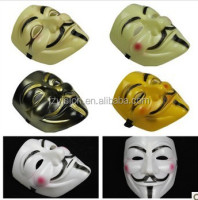 Fancy dress Plastic Black V for vendetta Mask
