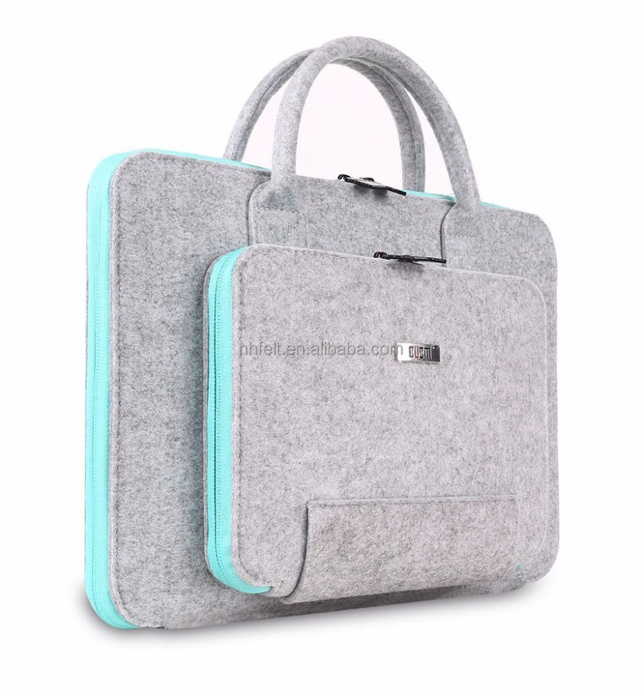 wholesale handmade felt tote bag /felt laptop bag notebook computer bag