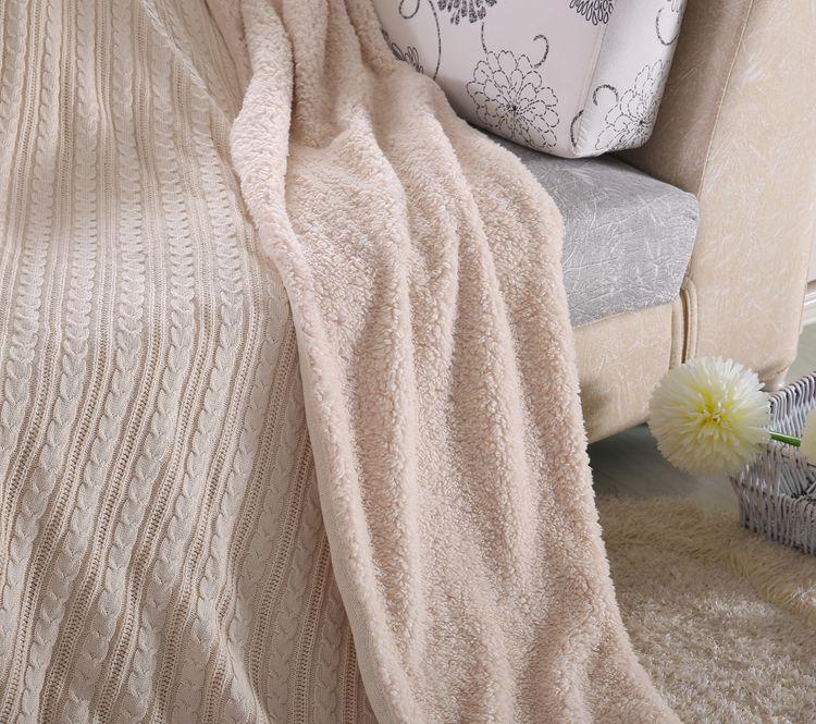 Thick Knitted Fleece Winter Blanket,Mink Blanket