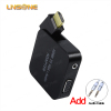 1080p s-video vga rca to HD-MI converter with 3.5mm jack female to male
