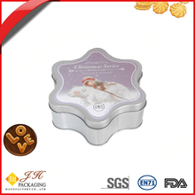 Mini Christmas star shape biscuit cookie metal tin packing box