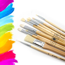 10 Pieces Artist Paint Brushes Set Paint Brush Acrylic Painting Brush