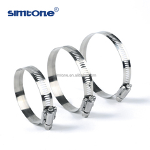 stainless steel pipe hose clamps 0.5 18 inch American type with strength housing