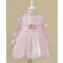 new born embroidered mesh baby toddler 100 elegant dress with little long sleeve flower girl dresses baby frock