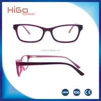 2016 multi-color simple design acetate optical spectacle frames for kids
