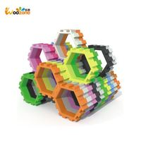 Educational Toys Wooden Geometric Shape Building