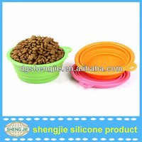 Alibaba hot selling FDA silicone pet bowls folding dog bowl /dishes pet water bowl