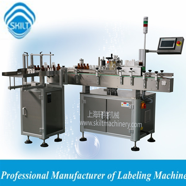 Automatic round bottle labeling machine with adhesive sticker 0086-18917387699