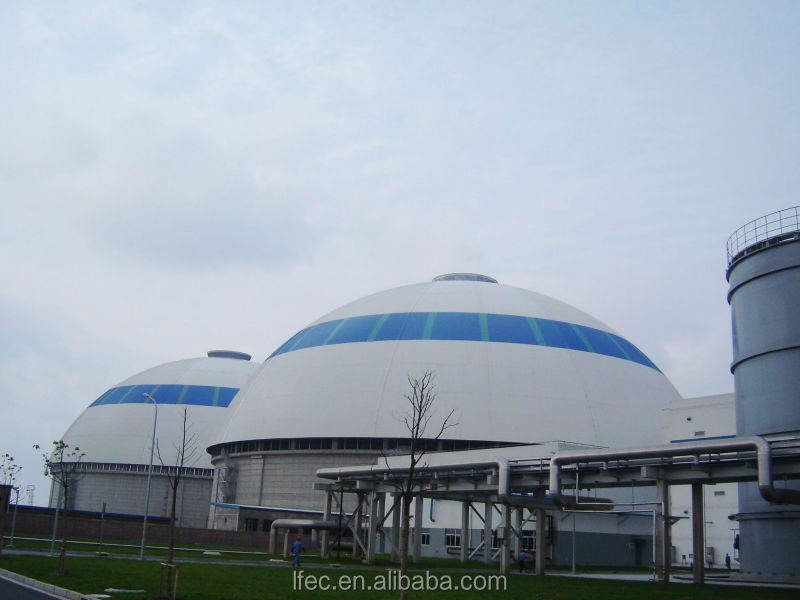 Steel Framing Dome Steel Warehouse For Coal Fired Power Plant