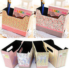 Cute Makeup Cosmetic Stationery Handmade Paper Board Morden Storage Box Desk Decorate Organizer Hot Selling