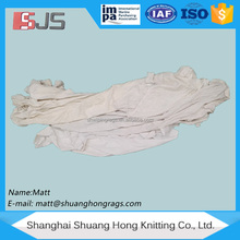 Recycled white t-shirt color rags knitted fabric waste