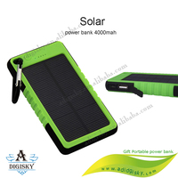 LED light backpack solar power bank 4000mah portable mobile phone charger