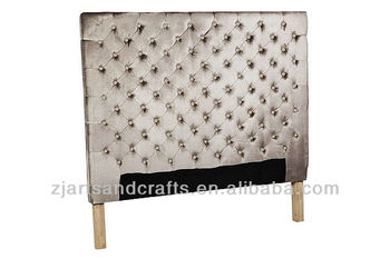 8011 bedroom head board ( birch wood/champagne velvet fabric&button )