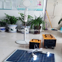 Factory Price Green Power China Supplier solar system 1kw with battery with LCD display and DC/AC output