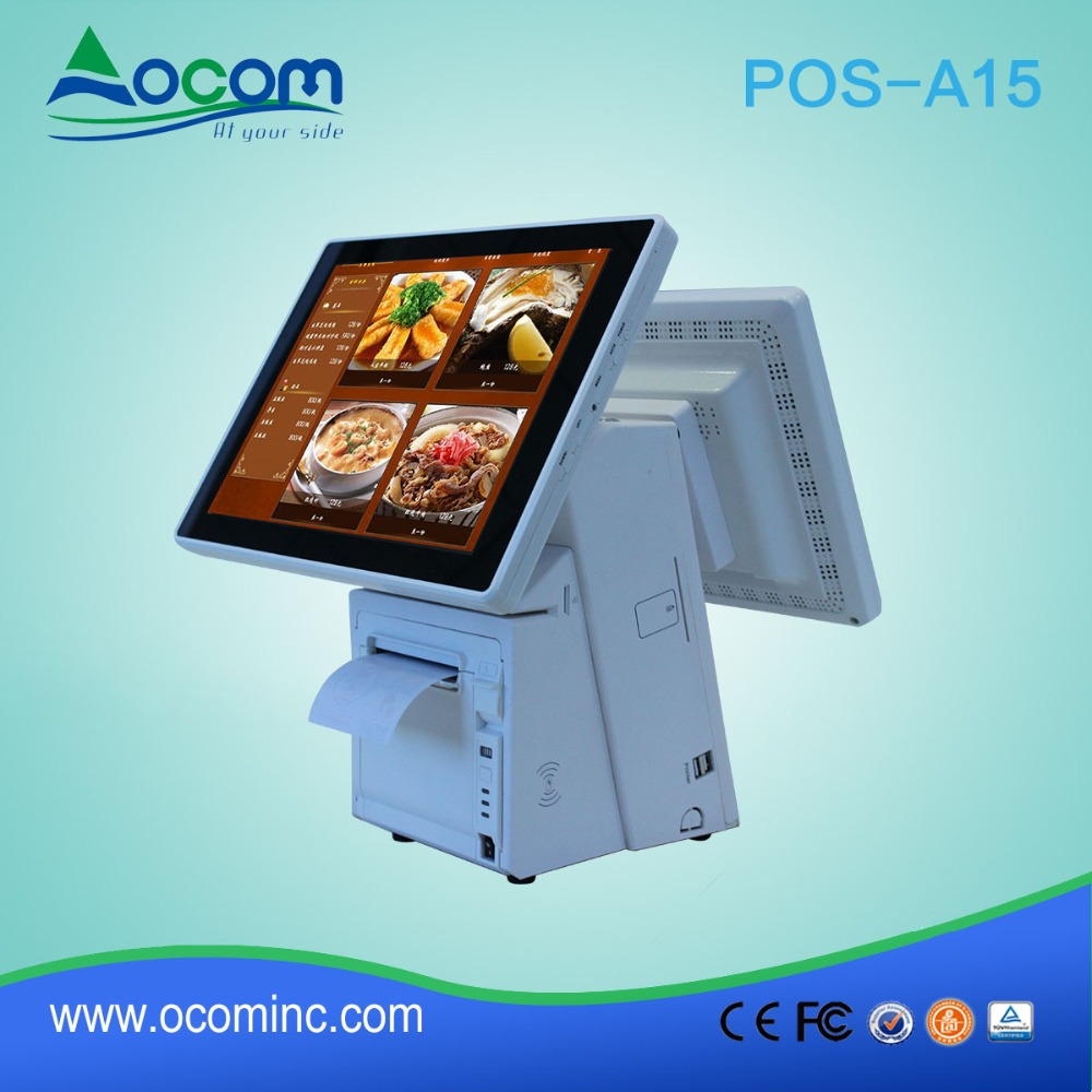 POS-A15 15.6 inch desktop pos touch screen lottery pos terminal new android payment terminal
