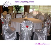 Pillow Case Silver Self-tie Chair Cover for banquet chairs in wedding decorations