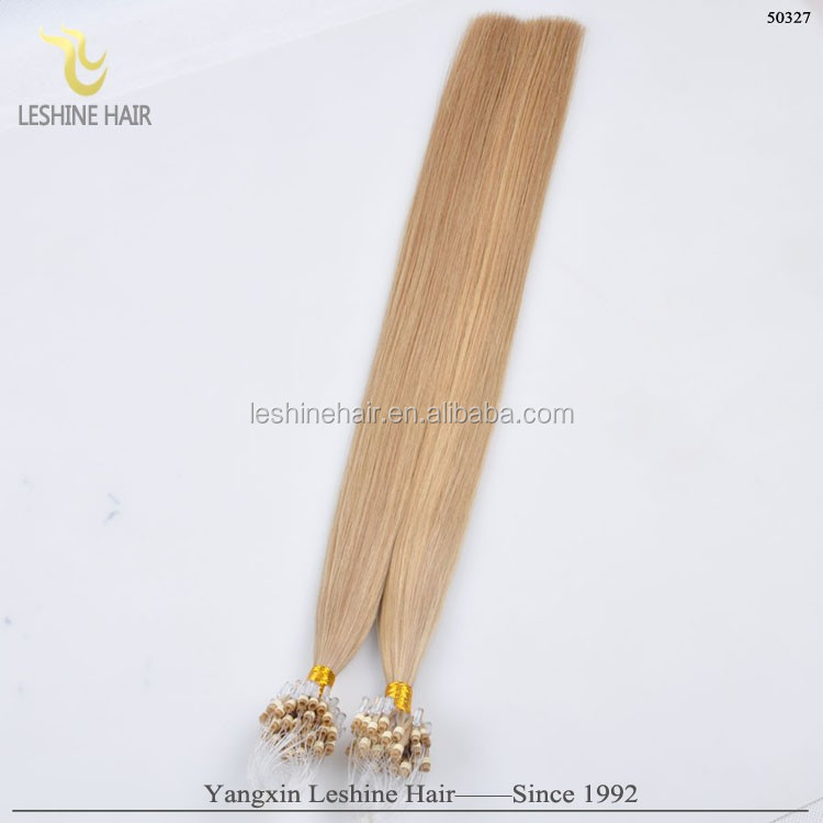 2015 Fashion Hot Selling Shedding Tangle Free Factory Wholesale Price red micro beads hair extension