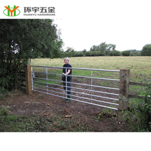 factory direct galvanized steel farm gates cheap pasture gate
