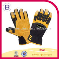 Oil Field Winter Deerskin Leather Yellow Working Glove
