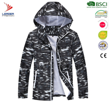 New Style Fashion Light Weight Man Hooded waterproof windproof Jackets Hot Selling Casual Print Slim Fit