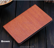 Leather Wallet Tablet Case Wood Skin Protector Standing Slim Case for iPad Mini 2 7.9