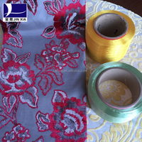 Supply China made dope dyed 100% polyester 150D 48F Round Trilobalfdy yarn for jacquard dobby fabric
