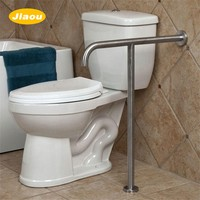 ADA Compliant handicap T shape toilet grab bar for disabled