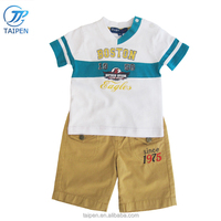 2018 Wholesale Boys Summer Clothing Set Short Sleeve T-shirt And Short Pants Kids Clothes