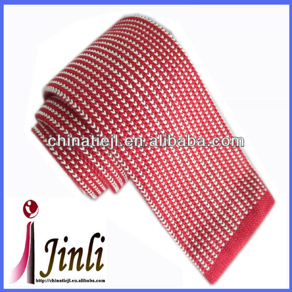 Fancy knitted skinny 100% cotton ties