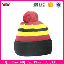 For Sale Custom Funny Different Country Flag Beanie Hat With Top Ball