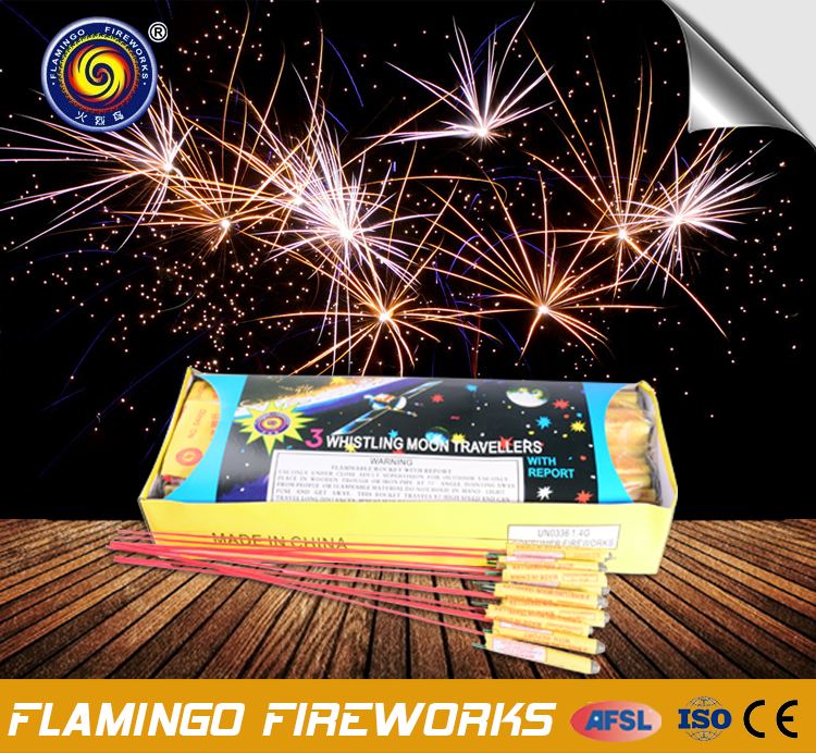 Wholesale price 3 Whistling Moon Travellers whistling rocket fireworks