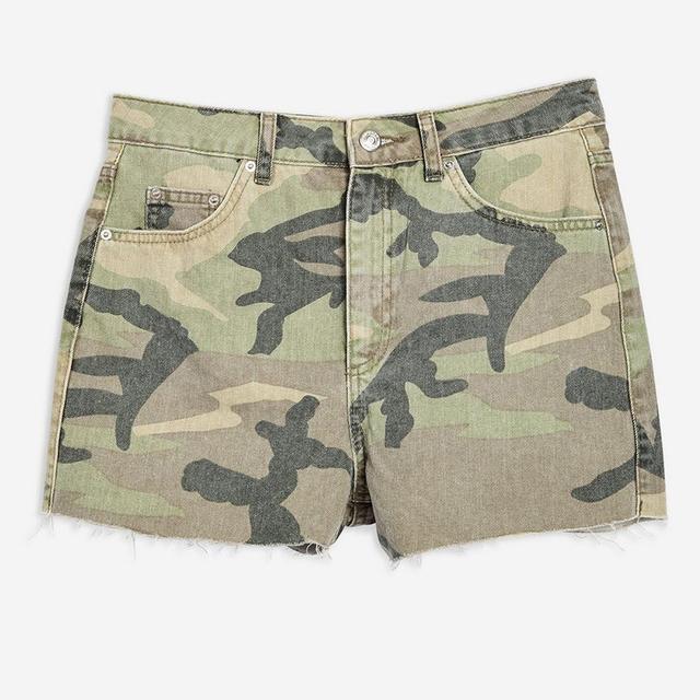 OEM Summer Custom Women Camouflage Mom Shorts