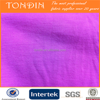 cotton single jersey fabric for garment wholesale/coat external prices