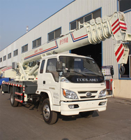 Expert Manufacturer LUYING Brand 10 Ton Foton Mobile Truck Crane
