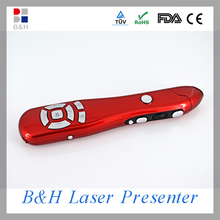2.4G Multimedia laser pointer wireless presenter mouse with laser pointer timer