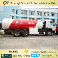 336hp HOWO LPG tanker 24m3 LPG trucks for sale