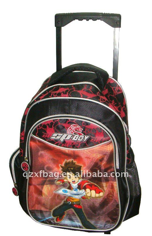 2011 fashion school trolley backpack bag for children XFT-0004