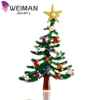 Wholesale fashion jewelry Christmas tree brooch pin wedding collar clip scarf buckle jewelry