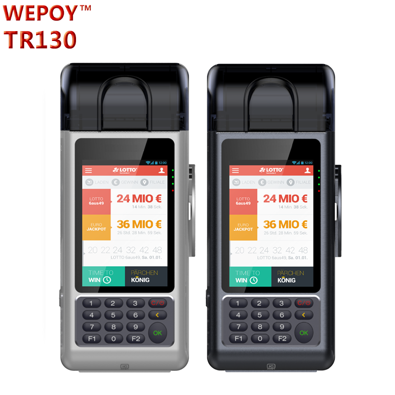 EMV Handheld android pos terminal with sim card