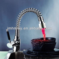 Brass Pull Out Spring Kitchen faucet sink basin faucet mixer