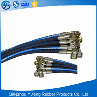 High press rubber ribbed hose assembly, hose assemblies