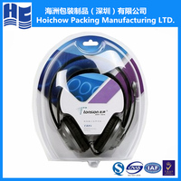 Clear plastic clamshell,cheap blister clamshell packaging for headset use