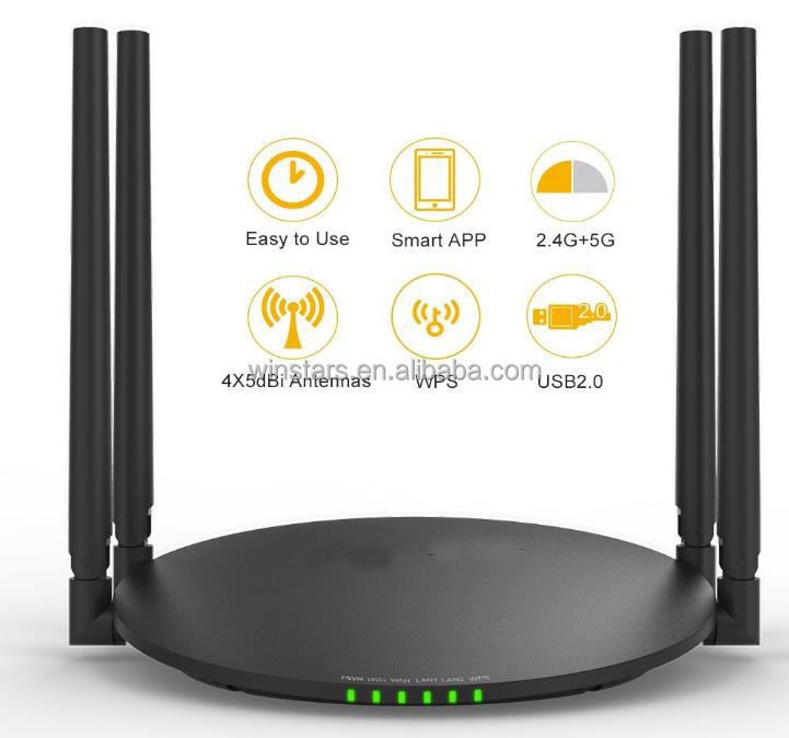 192.168.1.1 1200mbps wireless router AC1200, Simultaneous Dual-band Speed Up To N300 Mbps (2.4 Ghz) + AC867 Mbps (5 Ghz)